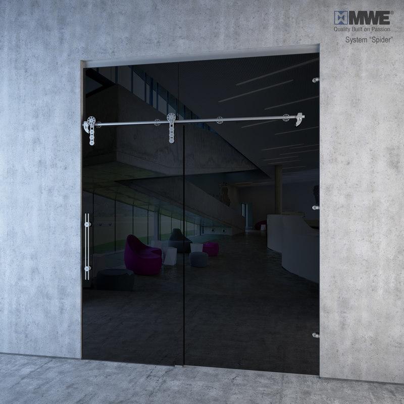 glass sliding doors mwe 3d 3ds