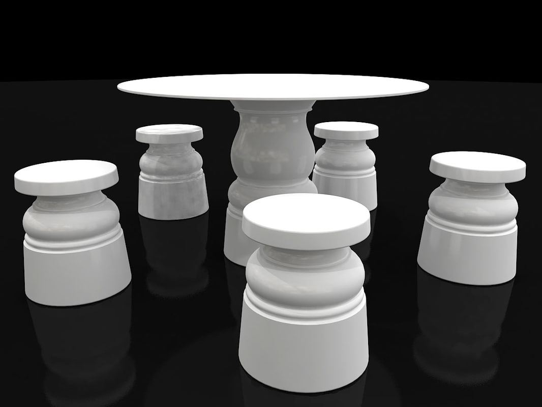 tables moooi container new 3d 3ds