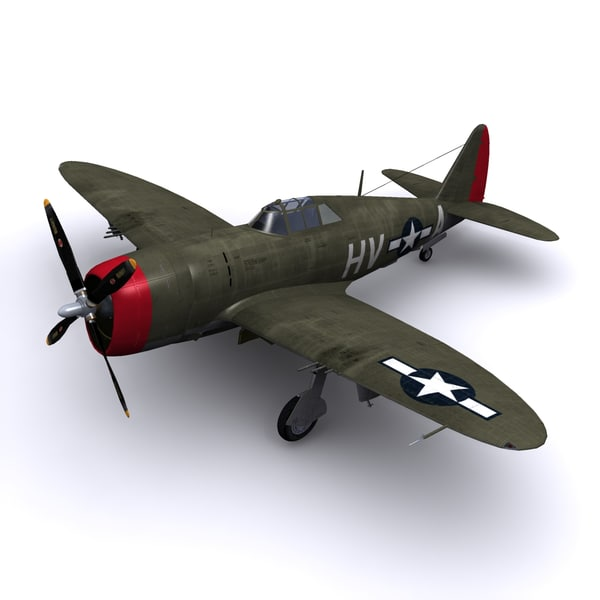 p-47 thunderbolt p-47d lt 3d model