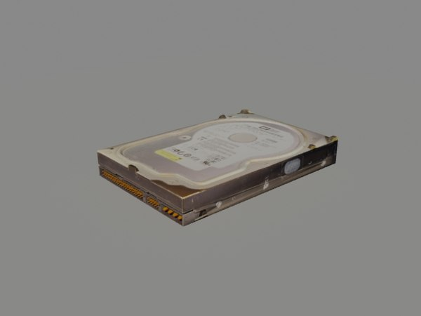 3d model hdd hard drive