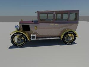 classic 1928 car 3d max
