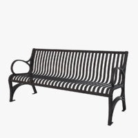 3d bench wrought iron model