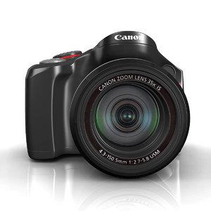 3d model canon camera