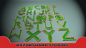 mini golf alphabet course 3d ma