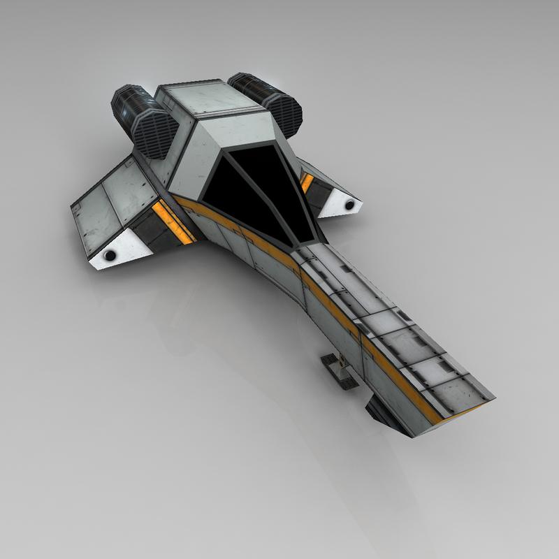 free obj model star ship