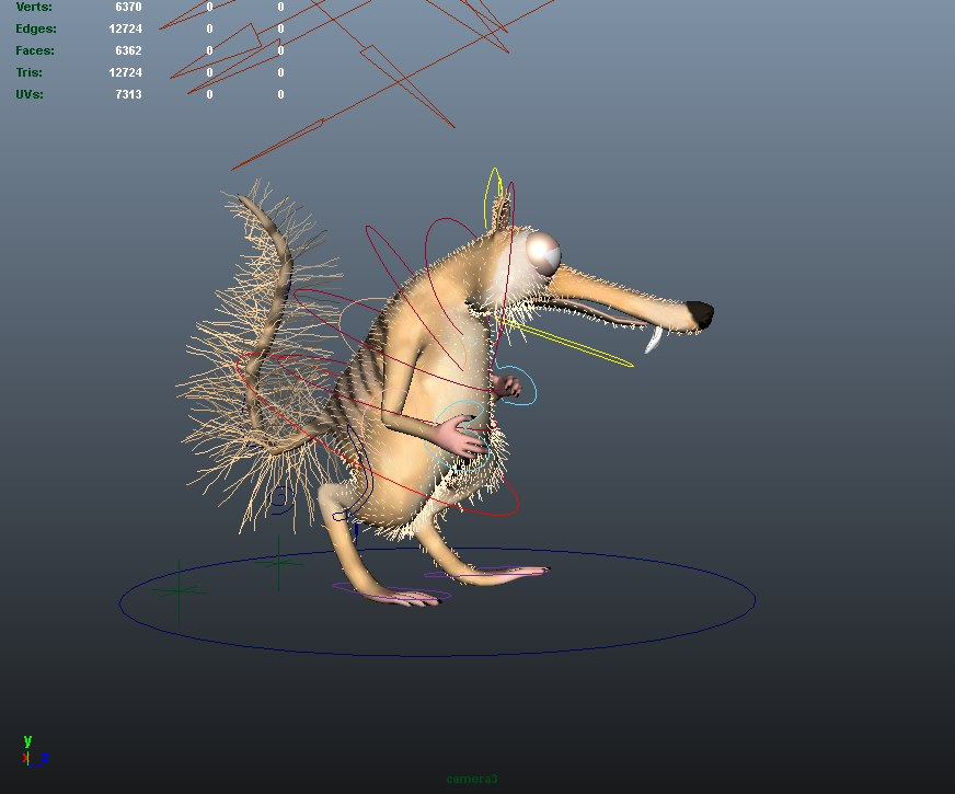 3d model squirrel scrat animation