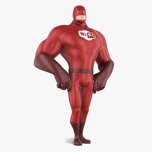 super hero 3d max