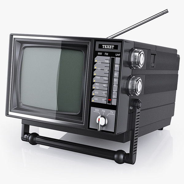 3d old portable tv texet