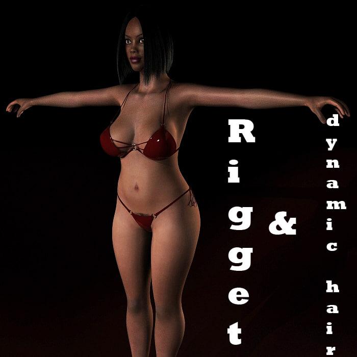 maya rigged female character body