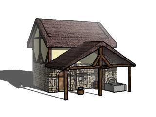 3d model blacksmith castle
