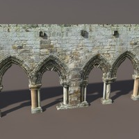 Castle Ruin #1 Low poly 3d Model