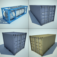 3d container cargo model