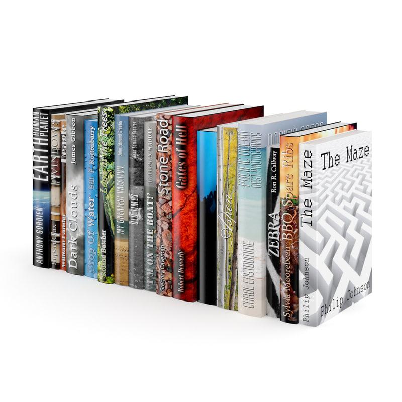 3d model book set