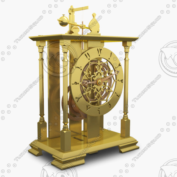 3d mechanical clock model