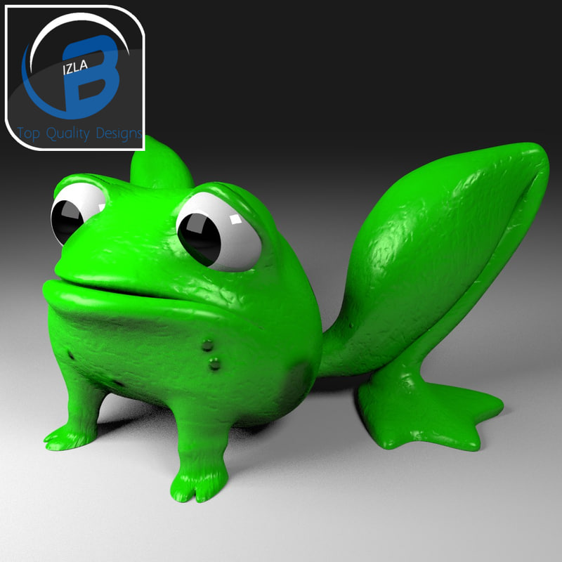 cartoon frog 3d x
