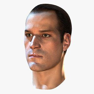 male head rendering 3d max
