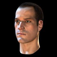 male head rendering 3d max