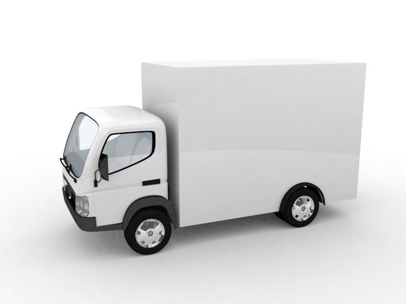 small truck car vehicle 3d max
