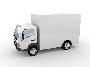 small truck car vehicle 3d max