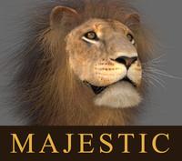 lion animation fur 3d max