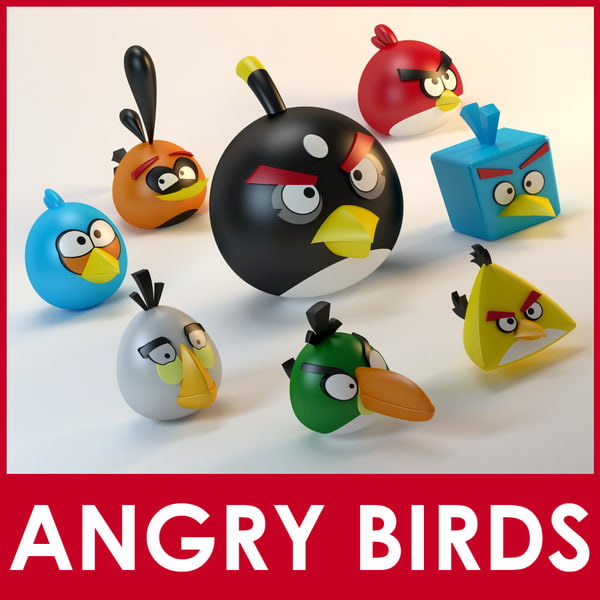 angry birds pack 3d model