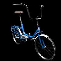 3d model bicycle monark