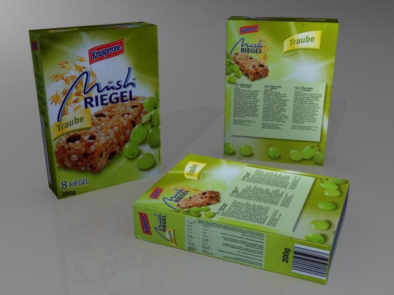 3d 3ds muesli box