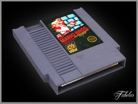 3d model nintendo nes cartridge