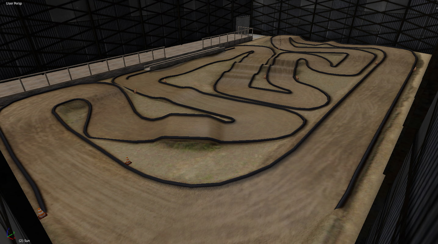 Rc Car Track: 3ds Max Rc Car Race Track
