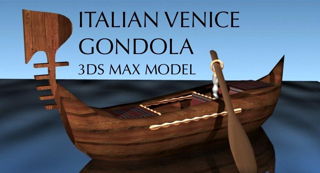 gondola boat venice 3d max