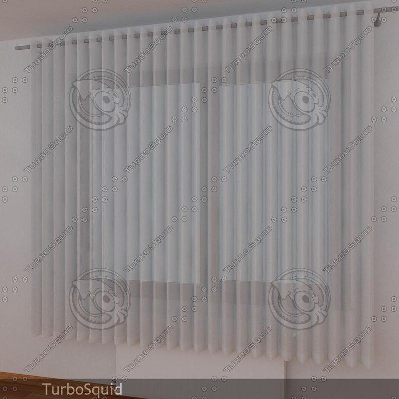 curtain 03 3d dxf