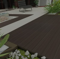 deck outdoor parquete 3d model