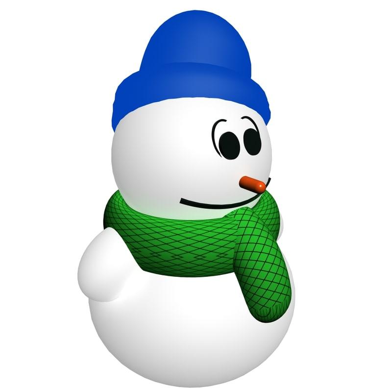 3d model snowman er