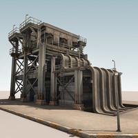 refinery parts 3d max