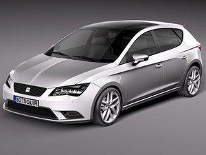 seat leon 2013 3d model