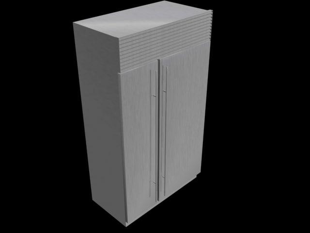 refrigerator 632 subzero 3d model
