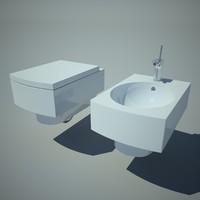 bowl bidet toilet obj