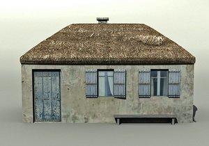 3ds max village hut