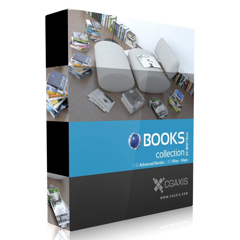 3d model of volume 23 books magazines