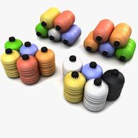 canister barrel plastic 3d max