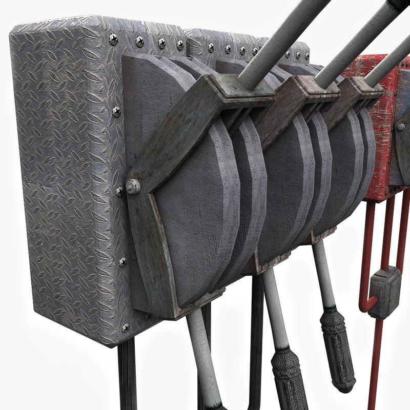 3d model lever metal