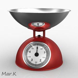 3d retro kitchen scale