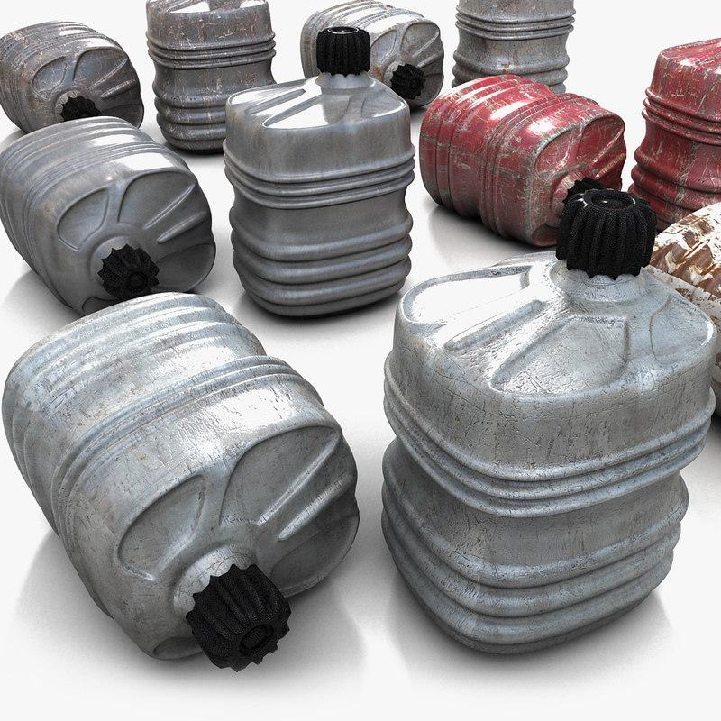 metallic canister barrel 3d model