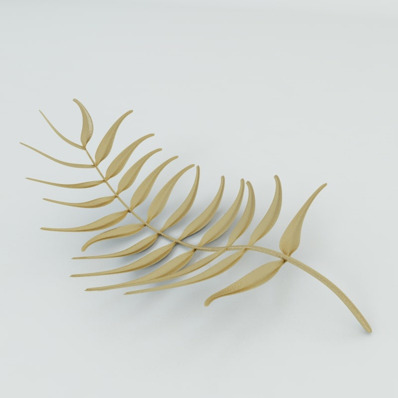 3d armani golden leaf