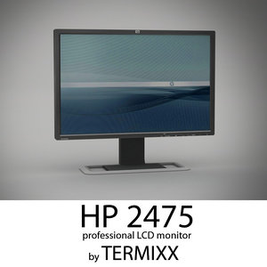 monitor hp 2475 3d obj