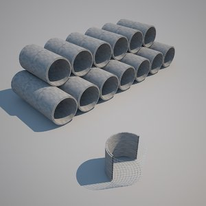 3d pipes concrete 2011 model