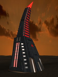 3d obelisk light model