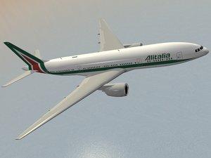 3d dwg boeing 777-200 er alitalia