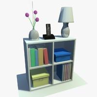 3d white cabinet decor