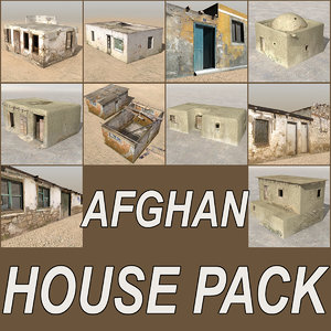 3d 3ds afghan houses cottages